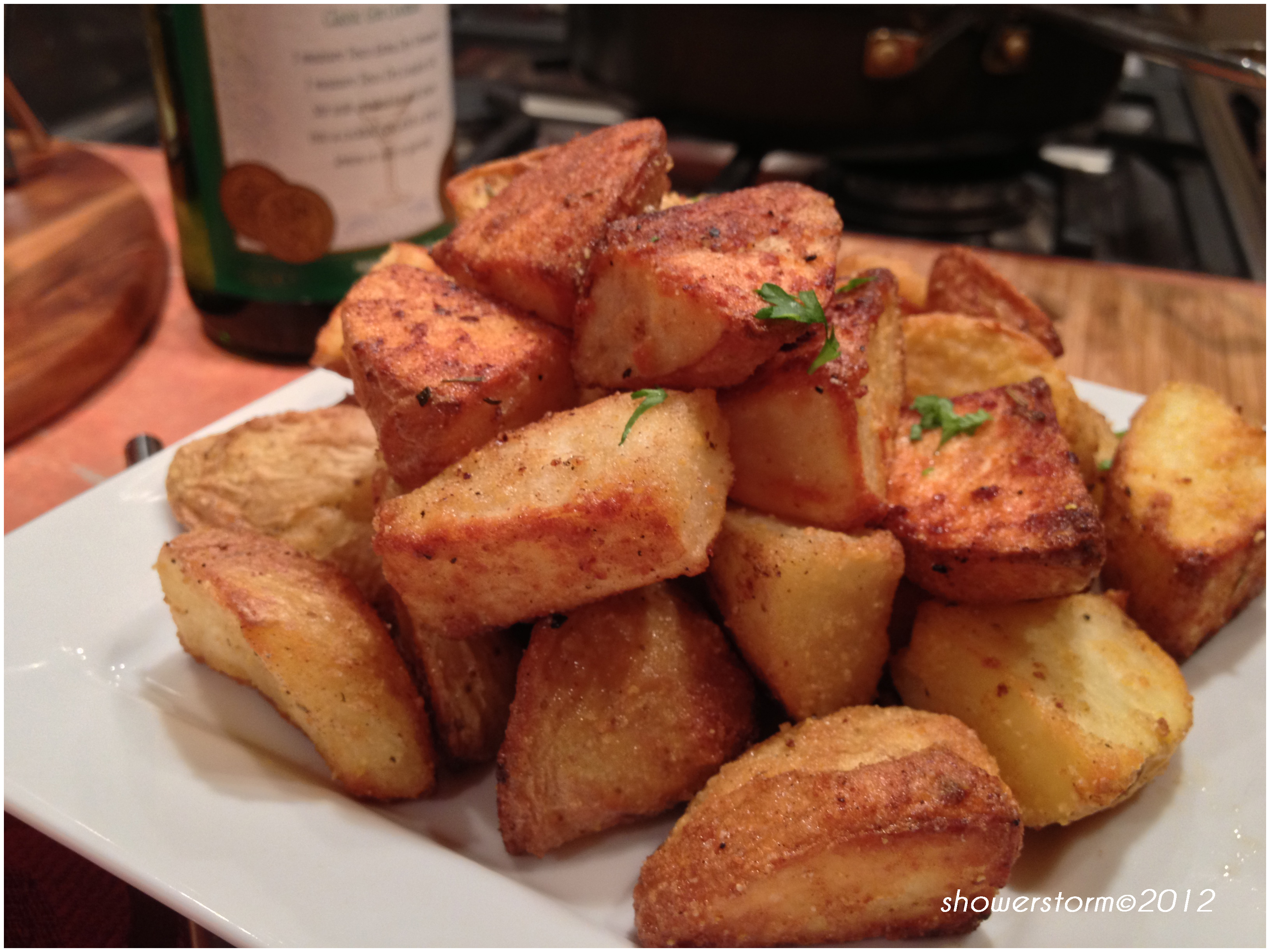 how to make roasties crispy