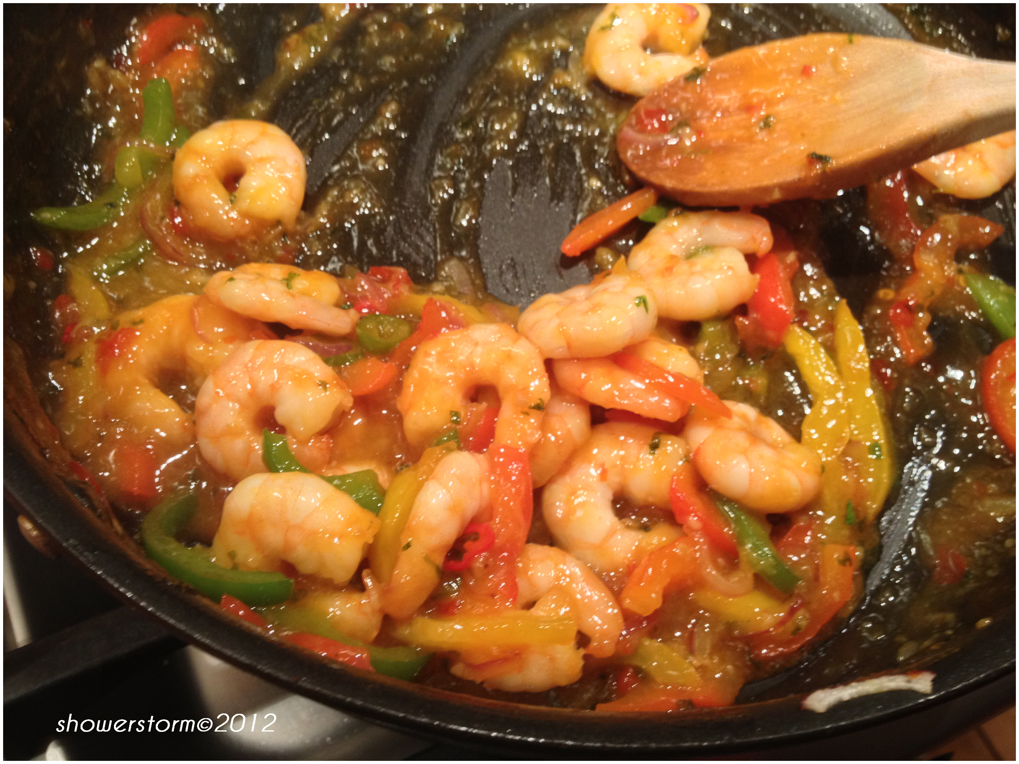 how to make sweet chilli prawns