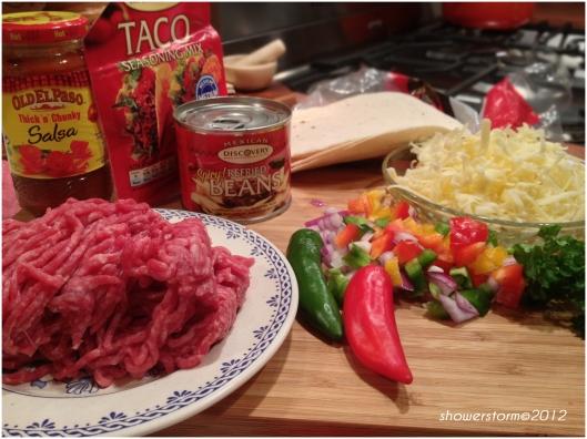 taco pizza prep