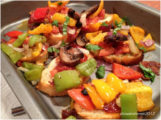 add roasted veg