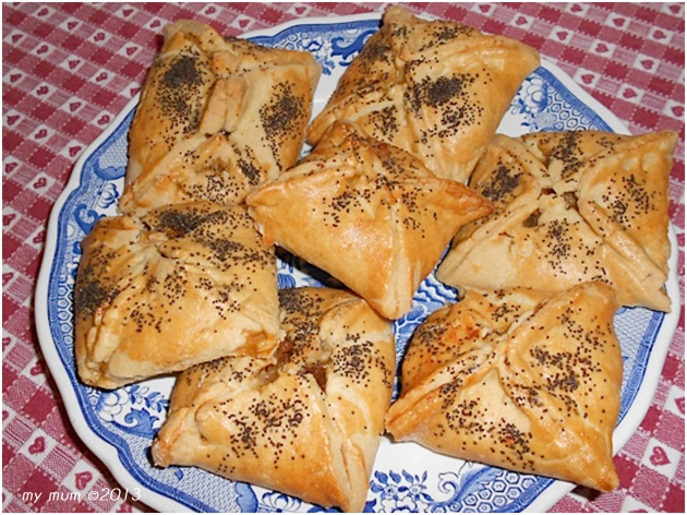 cheese and onion parcels