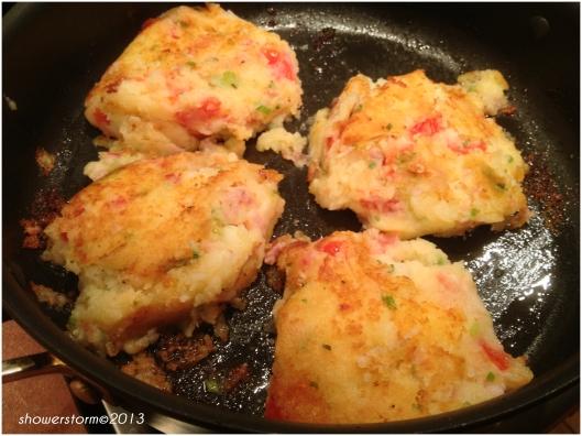 fry potato cakes