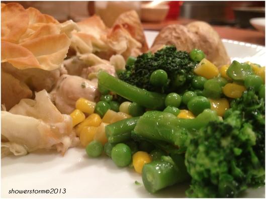 with veg