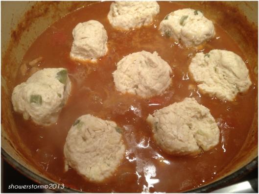 add dumplings