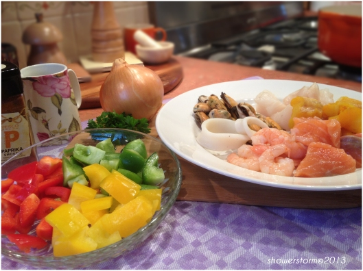 fish stew prep