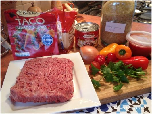 taco meatball prep