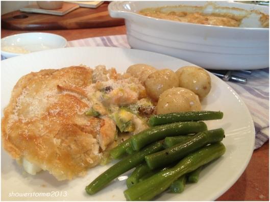 fish pie with veg