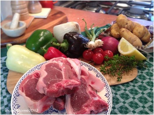lamb chop prep