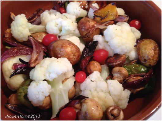 add roast veg