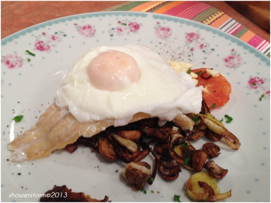 add poached egg