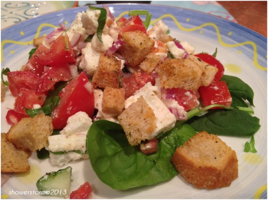 tom and feta salad