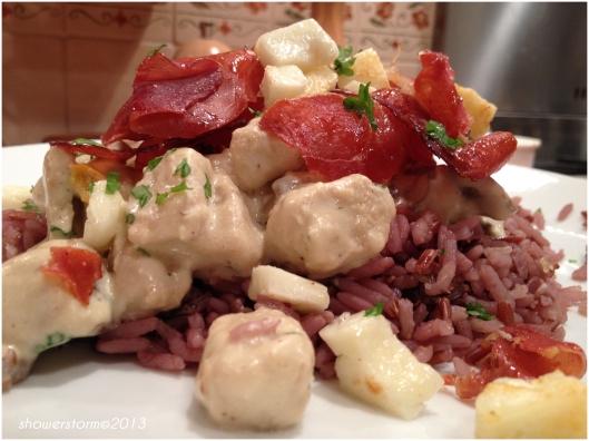 Quorn and prosciutto