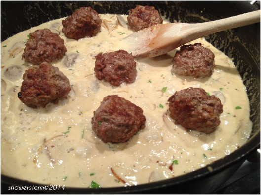 add meatballs