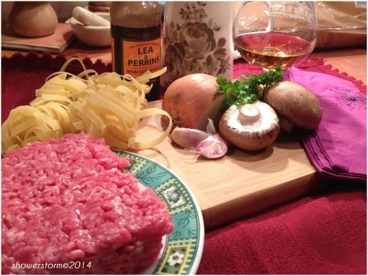 veal meatball prep