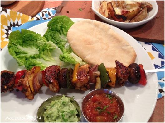 cook kebab