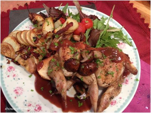 quail en croute