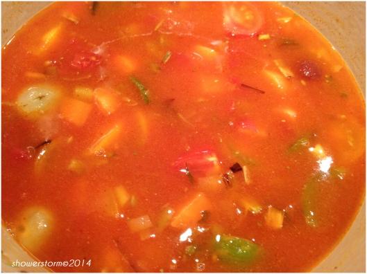 add tomato sauce etc