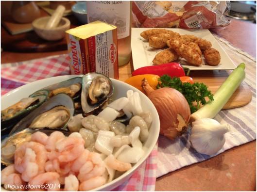 seafood soup prep
