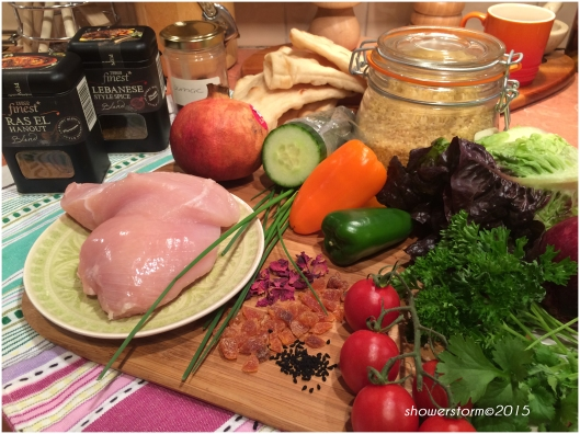 moroccan shredded chix prep